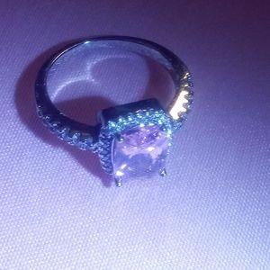 Pink Sapphire/ Diamond Ring